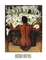 Nude with Calla Lilies Framed Print