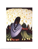 The Flower Seller Framed Print