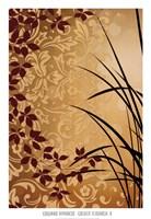Golden Flourish II Framed Print