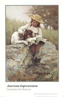 Girl with the Dog Fine Art Print