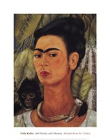 Self-Portrait with Monkey, 1938 Fine Art Print