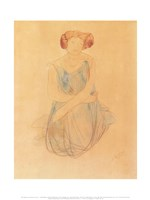Seated Woman in a Dress, after 1900 Fine Art Print