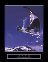 Dare - Snowboarder Fine Art Print