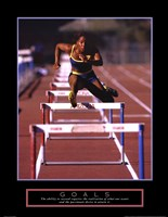 Goals - Runner Jumping Hurdles Framed Print