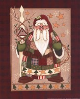 Patchwork Santa Fine Art Print