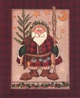 Woodland Santa Fine Art Print