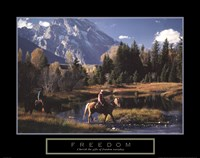 Freedom - Cowboys Fine Art Print