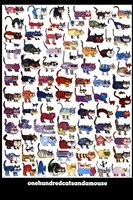 100 Cats and a Mouse Fine Art Print