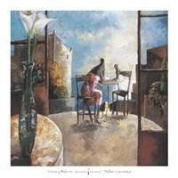 Lirios y Balcon Fine Art Print