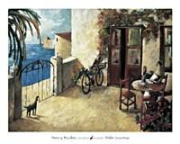 Perro y Bicicleta Fine Art Print