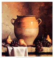 Confit Jar with Pears & Grapes Fine Art Print