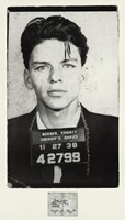 Frank Sinatra [Mugshot] Framed Print