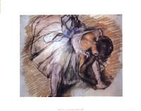 Dancer Adjusting Her Slipper Fine Art Print