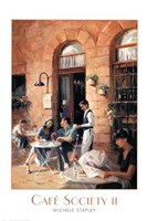 Cafe Society II Fine Art Print