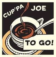 Cup'pa Joe to Go Framed Print