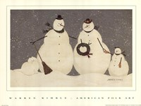 Snow Family Fine Art Print