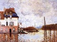 Flooding At Port-Marly Fine Art Print