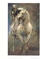 Soldier on Horseback Fine Art Print
