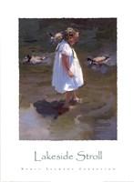 Lakeside Stroll Fine Art Print