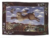 The Flying Hare Fine Art Print