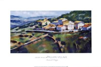 Hillside Village 16.5x25 Fine Art Print