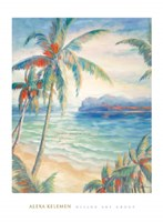 Tropical Breeze I - palm trees Framed Print