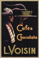 L. Voisin Cafes & Chocolats, 1935 Fine Art Print