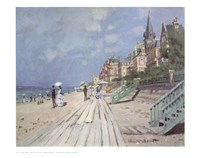 Beach At Trouville Fine Art Print