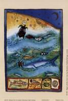 Ocean Life II (Moon) Fine Art Print