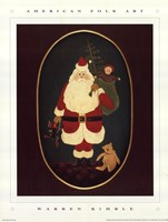 Santa with Toys Fine Art Print