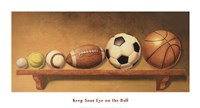 Keep Your Eye on the Ball Framed Print