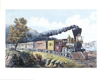 American Express Train Fine Art Print