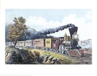 American Express Train Framed Print