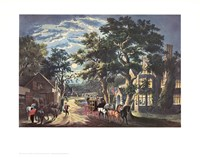Currier and Ives - Wayside Inn Fine Art Print