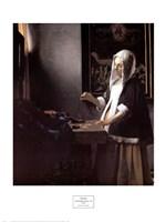 A Woman Holding a Balance Fine Art Print