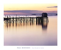 Old Wharf at Dawn Fine Art Print