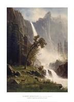 Bridal Veil Falls, Yosemite Framed Print