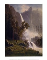 Bridal Veil Falls, Yosemite, ca 1871-73 Framed Print