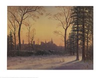 View of the Parliament Buildings from the Grounds of Rideau Hall Fine Art Print