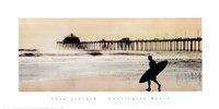 Surfer at Huntington Beach Framed Print