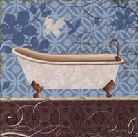 Eco Motif Bath I Framed Print