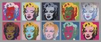 Ten Marilyns, 1967 Fine Art Print