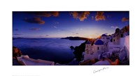 Mykonos Sunset Framed Print
