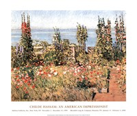 Hollyhocks, Isle of Shoals Fine Art Print