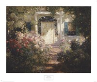 Doorway and Garden Framed Print