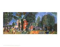 Paddock At Deauville Fine Art Print