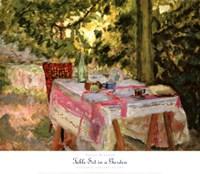 Table Set in a Garden Fine Art Print