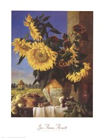Sunflowers and Pigeonnier Fine Art Print
