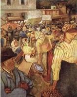 Village Market Fine Art Print