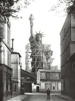 Statue of Liberty in Paris, 1886 Framed Print